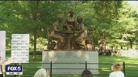 Central Park unveils first-ever statue of real women to mark anniversary of 19th Amendment