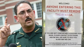 Florida sheriff bans deputies from wearing face masks, memo says