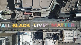 BLM street painting to become permanent along Hollywood's Walk of Fame
