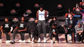 Orlando Magic player stands for national anthem as teammates, opponents kneel