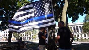 Rally supporting police draws scores to downtown Kenosha