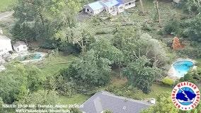 Small tornado hit New Jersey town