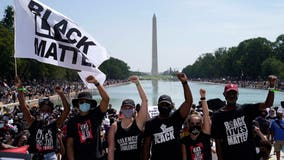 Thousands gather at March on Washington commemorations amid revived racial tensions