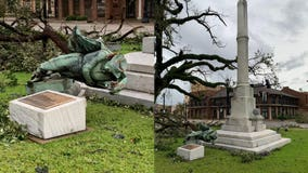 Hurricane Laura topples Louisiana Confederate monument weeks after officials voted to keep it