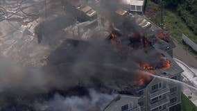 Massive fire rips through unfinished NJ apartment complex