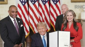 President Trump grants pardon to Jon Ponder, convicted bank robber, during RNC