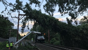 Most service on New York-area commuter railroads suspended
