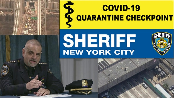 NYC sheriff to set up quarantine checkpoints at crossings into city