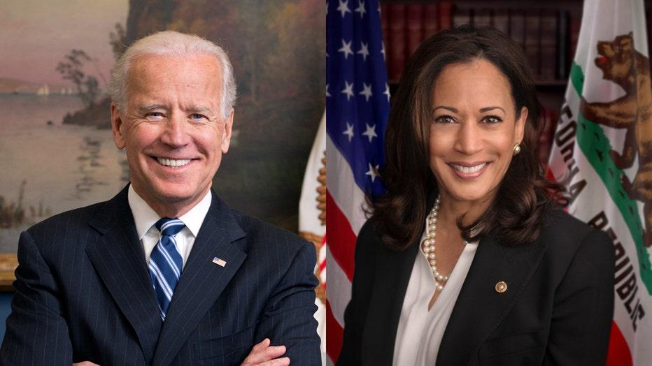 Official photo portraits of Joe Biden and Kamala Harris
