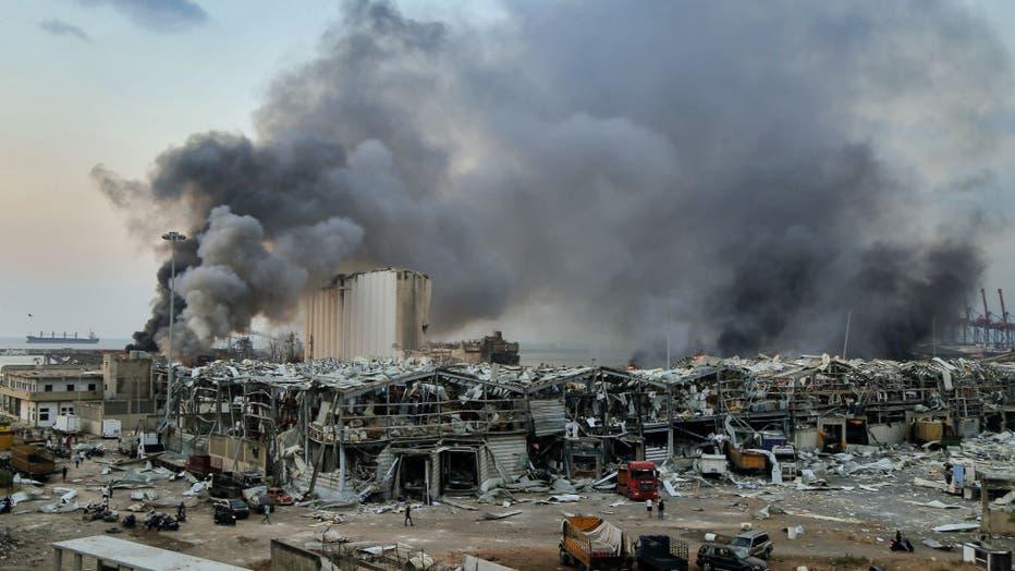 Massive explosion at Beirut's port