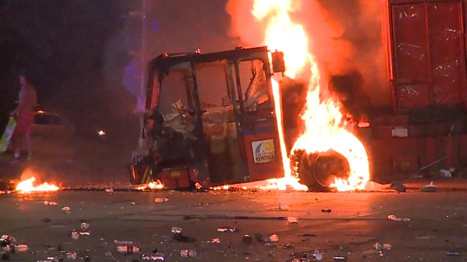 City vehicles set on fire in Kenosha