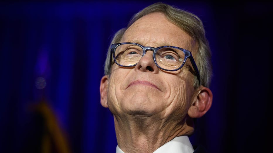 fbf4aadd-Ohio GOP Gubernatorial Candidate Mike DeWine Attends Election Night In Columbus