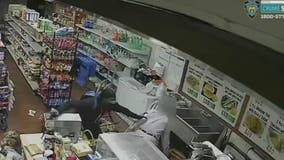 NYPD hunts man who stabbed two deli workers