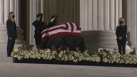 Ruth Bader Ginsburg's casket on view at Supreme Court