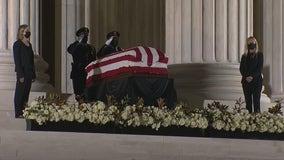 Ruth Bader Ginsburg lies in repose