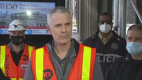 MTA press conference on Manhattan train derailment
