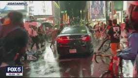 Questions remain over car that drove through BLM protest in Times Square