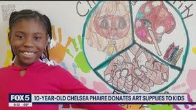 Girl, 10, creates art for charity