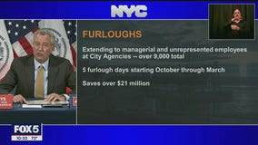 New York City to furlough 9,000 workers