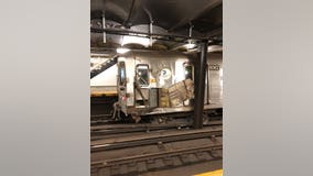 Subway service restored after debris thrown on tracks derails train in Manhattan