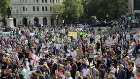 Police, protesters clash as London eyes tighter virus rules