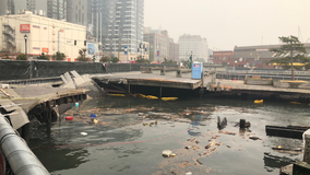 Pier 58 on Seattle's Waterfront partially collapses, two workers injured