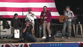 Kid Rock headlines campaign event in Macomb County alongside Donald Trump Jr.