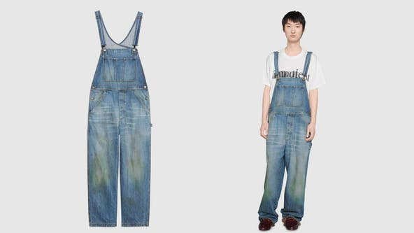 Gucci sells grass-stained jeans, overalls for $1,200 and up