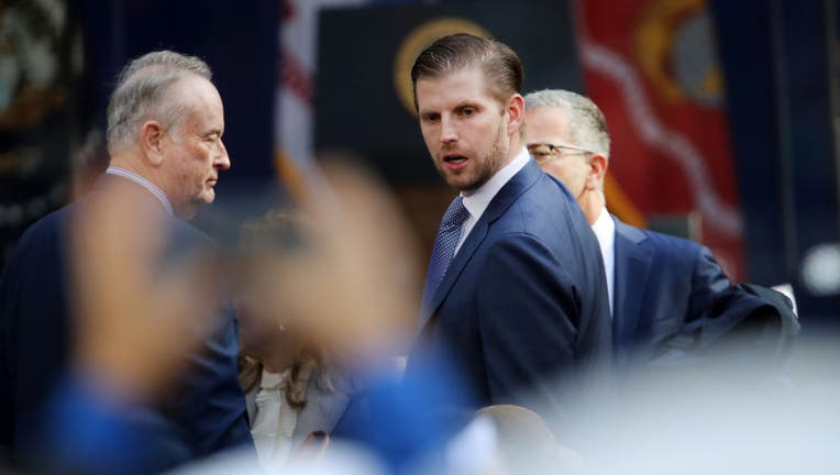 President Donald Trump's son Eric Trump attends the opening ceremony of the Veterans Day Parade on November 11, 2019 in New York City.
