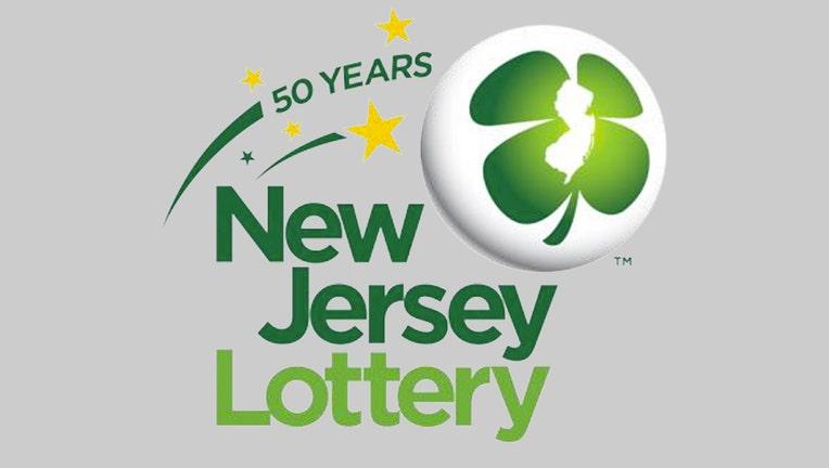 NJ Lottery logo in shades of green