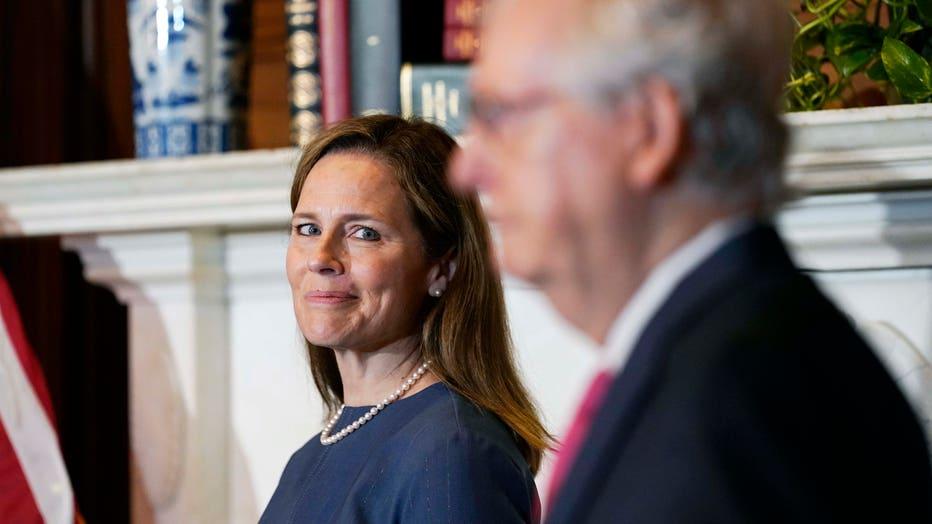 Senators Meet With Supreme Court Nominee Amy Coney Barrett