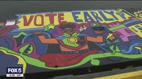 Vote early mural