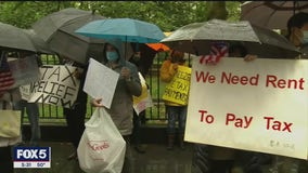 Landlords rally to demand financial relief