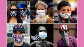 Faces meet fashion in New Yorkers' mask choices | Photo Essay