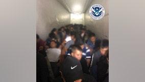U.S. border agents find dozens of migrants crammed into truck