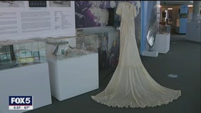 Wedding dress made from WWII parachute donated to Cradle of Aviation Museum
