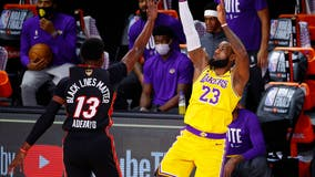 Adebayo, Dragic leave with injuries during Lakers blowout in Game 1 of NBA Finals