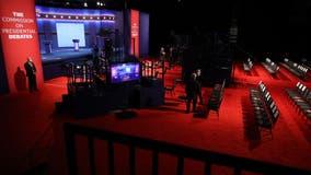 Presidential debate: Plexiglass barriers removed after Biden, Trump test negative for COVID-19