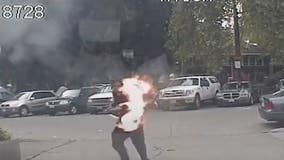 Seattle Police release video of man attacking officer with torch