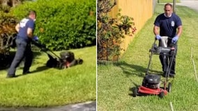 Florida first responders cut elderly Army veteran's grass after treating him for heat exhaustion