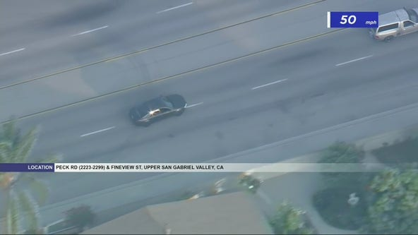 Police following erratic driver in San Gabriel Valley area