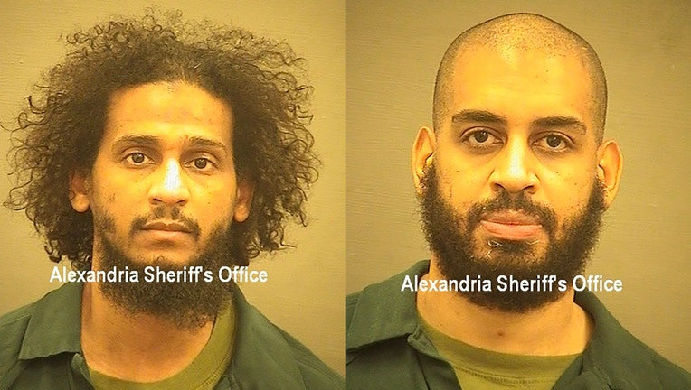 Booking photos of two accused ISIS militants