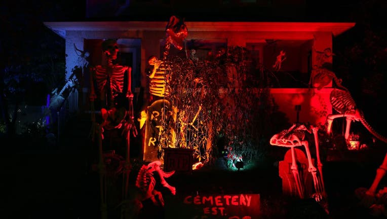 Hackensack street ready for Halloween with horror decorations