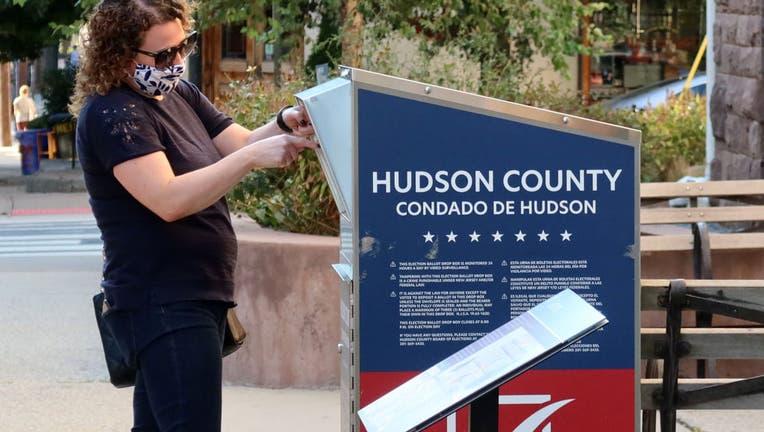 Hudson Country Ballot Drop Box in Hoboken, New Jersey
