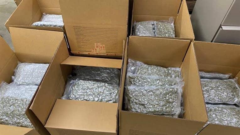 Marijuana seized in Buffalo, NY.