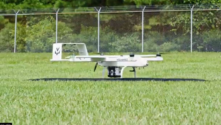 A still image from a video shows a Volansi drone taking off. (Handout photo/Volansi)