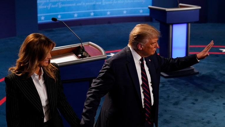 e2367ddc-Donald Trump And Joe Biden Participate In First Presidential Debate