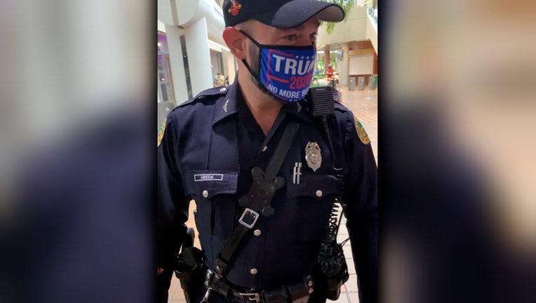 miami officer trump mask