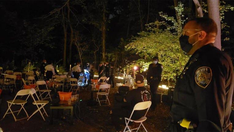 Deputy Sheriffs shut down a rave inside Cunningham Park, Queens. (Credit: @NYCSHERIFF)