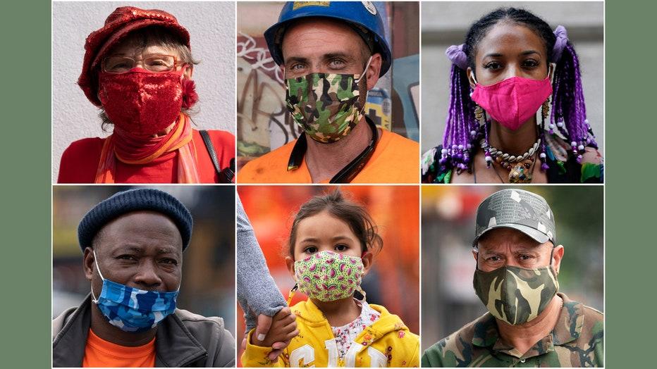 6 people wearing masks